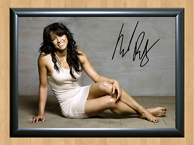 Michelle Rodriguez Signed Autographed A4 Photo Print Poster Memorabilia Movie 1