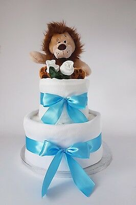 Baby girl or boy nappy cake cakes, great gift for baby showers and christenings!