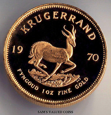 1970  South Africa Krugerrand 1 Oz Gold Proof Coin