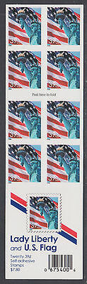 US Sc 3978b MNH. 2006 39c Booklet Pane, MISPERF Die Cuts on 8 stamp side, ERROR