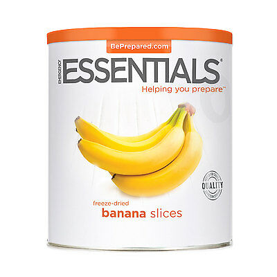EMERGENCY ESSENTIALS - Freeze Dried Banana Slices can