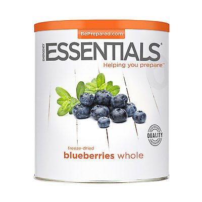 EMERGENCY ESSENTIALS - Freeze Dried Blueberries, Whole can