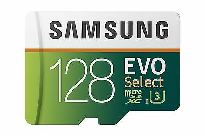 Samsung 128GB 100MB/s (U3) MicroSDXC EVO Select Memory Card with Adapter NEW