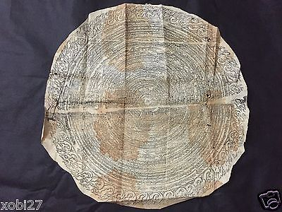 Antique Mongolian Tibetan  Buddhist Large Amulet  Print On Paper