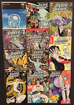 SILVER SURFER #1 - 10 Comic Books FULL RUN Marvel 2016 #1 Hip Hop Variant NM