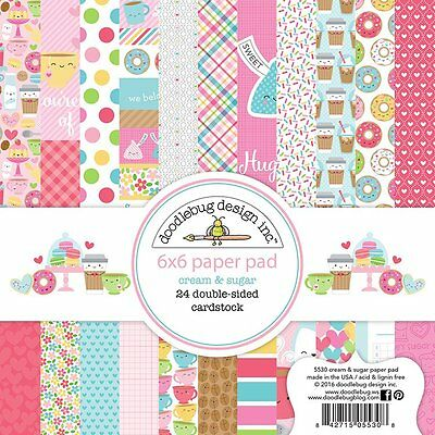 Doodlebug Design Cream and Sugar Collection 6 x 6 Scrapbook Paper Pad 5530  2017