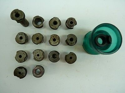 """14 Slip Fit Drill Bushings 1/2"""" OD Magnavon Stand Off Egg Bushing  Drill Cup"""