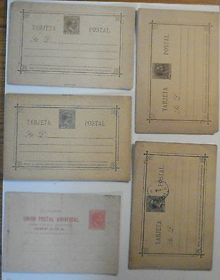 4485 5 Entiers Postaux Phillipines Filipinas Postal Stationery