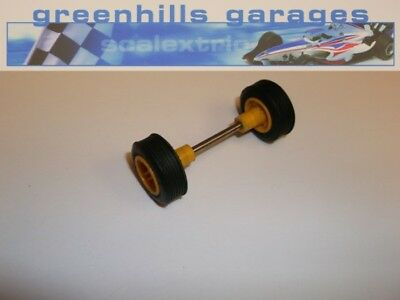 Greenhills Scalextric Arrows  Front Axle/ Wheels/Tyres Yellow – Used (P1578)