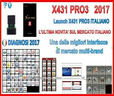 Diagnosi 2017 Launch X431 Pro3 Auto Diagnosi Multimarca 2017 In Italiano Obd2 Bt