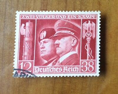 EBS Germany 1941 Hitler-Mussolini Brothers-in-Arms Michel No. 763 FU (3)