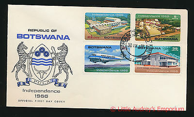 30 September 1966 REPUBLIC BOTSWANA INDEPENDENCE Official First Day Cover