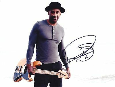 MARCUS MILLER Jazz legend RARE AMAZING IN PERSON SIGNED W/PROOF/BEWEIS COA