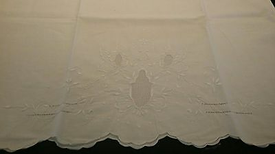 Pair of Antique Embroidered Eyelet Pillow Shams