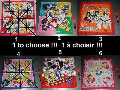 1 to choose !!! - 1 à choisir !!  mouchoir en tissu - handkerchief - sailor moon
