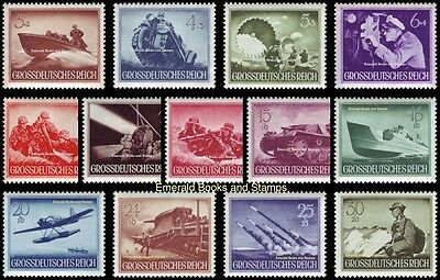 EBS Germany 1944 Army and Heroes Memorial Day set Michel No. 873-885 MH*
