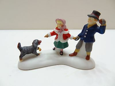 NEW Dept 56 Dickens Village Series PLAYING WITH A PUPPY Porcelain 56.58811