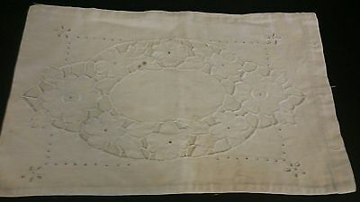 3 Antique Embroidered Damask Pillow Shams