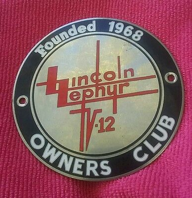 Lincoln Zephyr Owners Club Badge