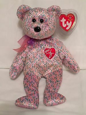 TY Beanie Baby - 2001 SIGNATURE BEAR - Pristine with Mint Tags - RETIRED