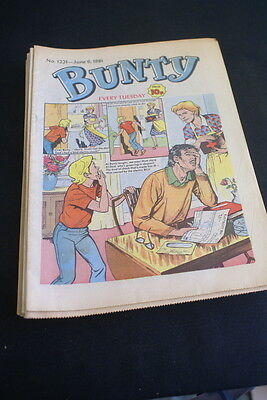BUNTY Comic For Girls . Ideal Birthday Gift. No. 1221 June 6 1981