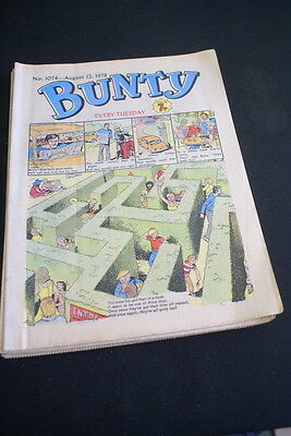 BUNTY Comic For Girls No. 1074. August 12 1978