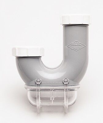 MAJIC Drain Trap All Plastic Sink Trap Catch Compartment Save Rings & Valuables