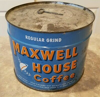 Maxwell House 3lb Coffee Can Vintage  - Unopened