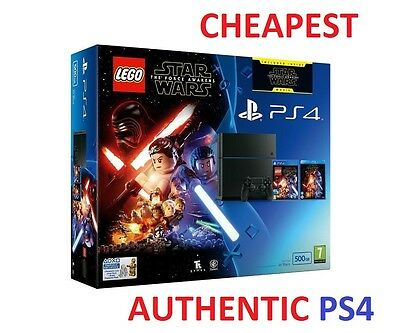 New PS4 Slim 500GB Console + Lego Star Wars + Star Wars: The Force Awakens Movie