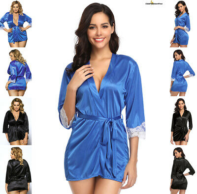 PLUS SIZE DESSOUS | Plus Size Silky Home Pajamas With Waist Belt | M-4XL R70145P