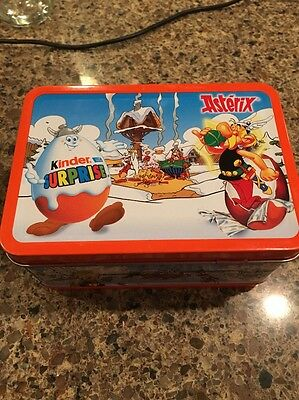 Kinder Surprise Asterix Egg Choco Box Metal Tin Lunch Box Ferrero Chocolate