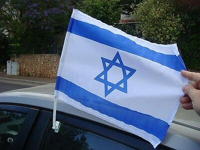 3x Israel Car Flags - Israel Window Flags - Israeli Car Flag - Lot of 3 Flags