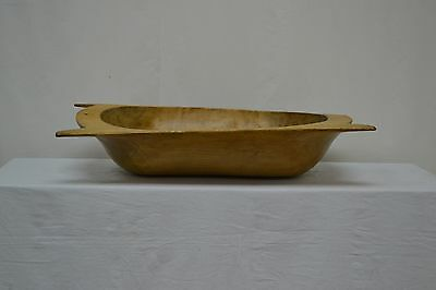Antique Fruitwood Trog or Dough Bowl