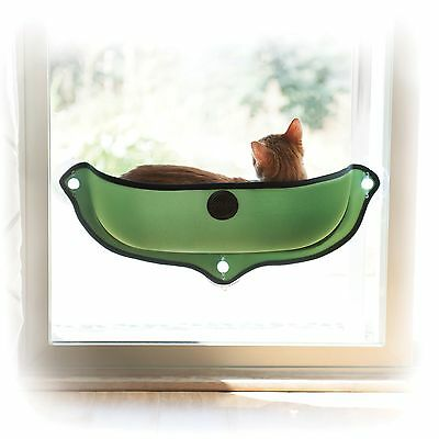 Cat Bed - K&H EZ Mount Window Mod Bed Green 27 x 11 inches