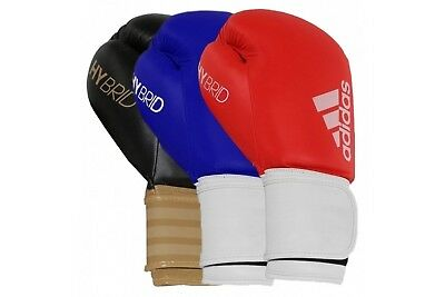 Adidas Hybrid 100 Boxing Gloves PU Two Tone Elastic Strap 8, 10, 12, 14, 16 oz