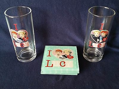 I Love Lucy Coaster and Glasses Set