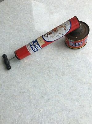 Vintage Harry Brand FLY Insect SPRAY PUMP Old Tin Sprayer