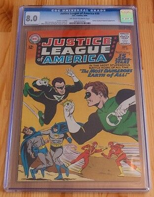 Justice League of America #30 (Sep 1964, DC) CGC 8.0 Batman The Flash OW/W pages