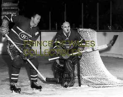 Doug Harvey & Jacques Plante Photo 8X10