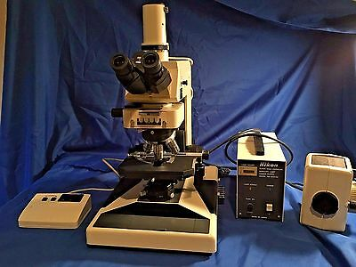 Nikon Microphot Research Grade Upright Bf, Phase Fluorescence Microscope