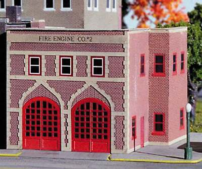 Z Scale Microstructures Kit #Z - 901 Fire Engine Company #2 Fire Station MIB