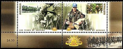 100 Years of Army 2001 se-ten pair. Badge & Horsemen in margin MNH  • FREE POST