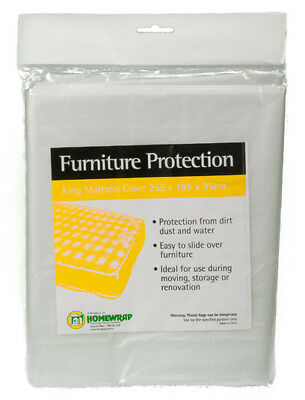 King Bed Plastic Mattress Cover, Storage & Moving Protection