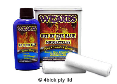 Wizards Out of the blue exhaust bluing remover kit 22019