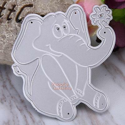 Metal Elephant Cutting Dies Stencil DIY Scrapbook Paper Album Card Craft Decor