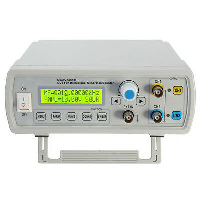 DDS Function Signal Generator FeelTech CNC Dual-CH Sweep Frequency Counter 6-24M