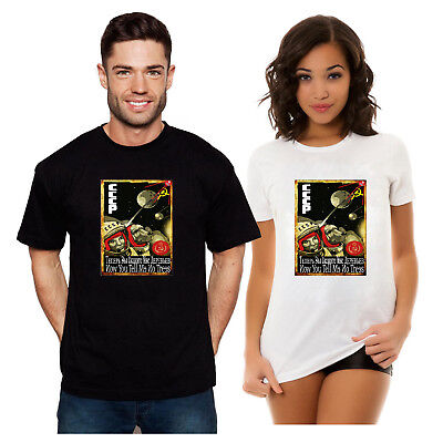 06141ba21 SPACE DOG CCCP COSMONAUGHT T SHIRTS Laika USSR Russia Russian РУССКИЙ  Россия - EUR 18,56 | PicClick FR