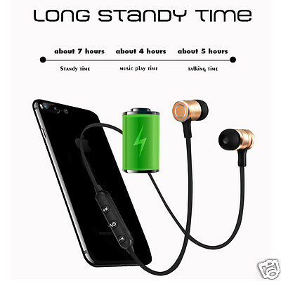 S6-6 Wireless Bluetooth Stereo Headset Sports Magnetic Earphone With Microphone