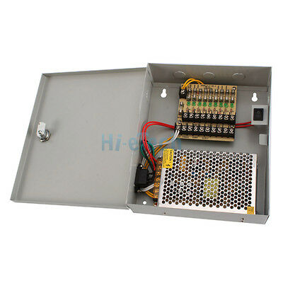 DC 12V 9 CH Port 12V 5A Power Supply Distribution Box for CCTV Camera System