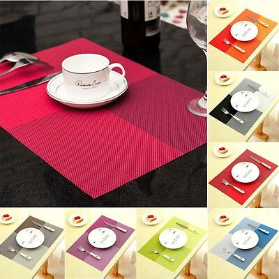 UK PVC Insulation Place Mats Protective Dinner Dining Table Placemats Tableware